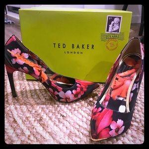 Ted Baker Black Floral heels